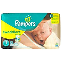 Pampers Swaddlers Original Diapers - Size 1 - 40 ct by PROCTER