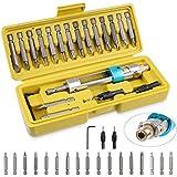 Swap Drill Bit Multi Drill Driver Tool Countersink Drill Screwdriver Bits Repair Tool Kits by FPVERA (20PCS)
