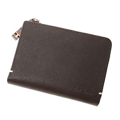 ポールスミス Paul Smith 財布 二つ折り財布 メンズ ジップストローグレイン PSK865 ブラウン