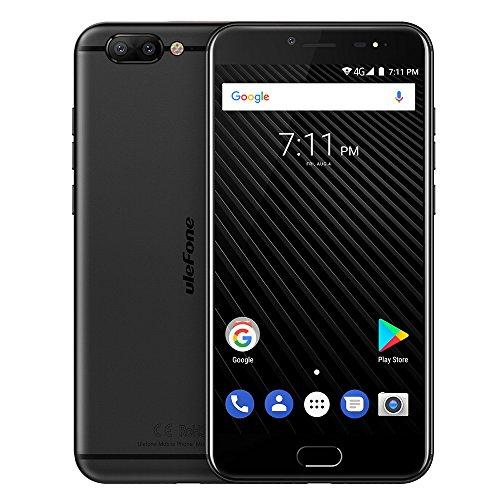 Ulefone T1 スマートフォン 4G Android 7.0 helio P25 オクタコア 2.6Ghz SIMフリー 高速充電 3680mAh 5.5インチFHD 1920* 1080px 6GB RAM 64GB ROM 指紋認証 金属ボディー 16MP 8MP ダブルフラッシュ GSM WCDMA CDMA2000 FDD-LTE TDD-LTE Bluetooth 4.1 ブラック レッド (ブラック)