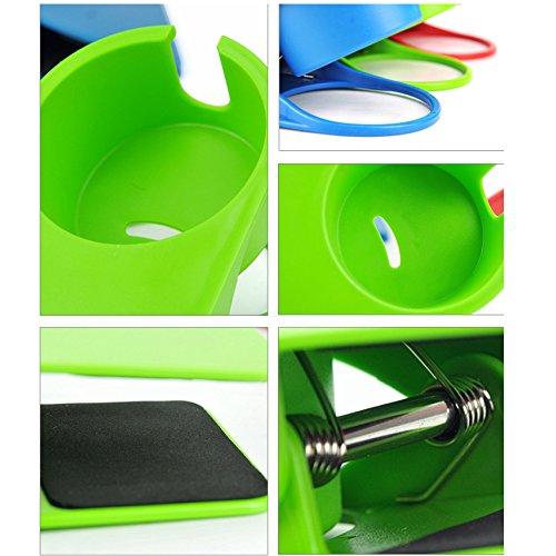 クリップ式カップホルダー カップ ホルダー ドリンク コップ ボトル 置き場 テーブル サイド 机 雑貨 飲み物 テーブルにカップホルダーを増設(レッド)