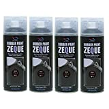 AZ(エーゼット) RP-1 ラバーペイント ZEQUE 油性 マットブラック 400ml(RP010)×4本 SE286
