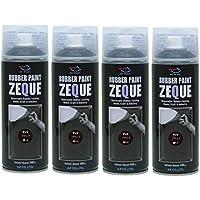 AZ(エーゼット) RP-1 ラバーペイント ZEQUE 油性 マットブラック 400ml (RP010) × 4本 SE286