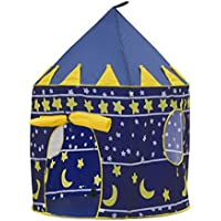 Children Play Tent besuntek折りたたみ式城Playhouse for Boys Girls Toddlersインドアアウトドア使用