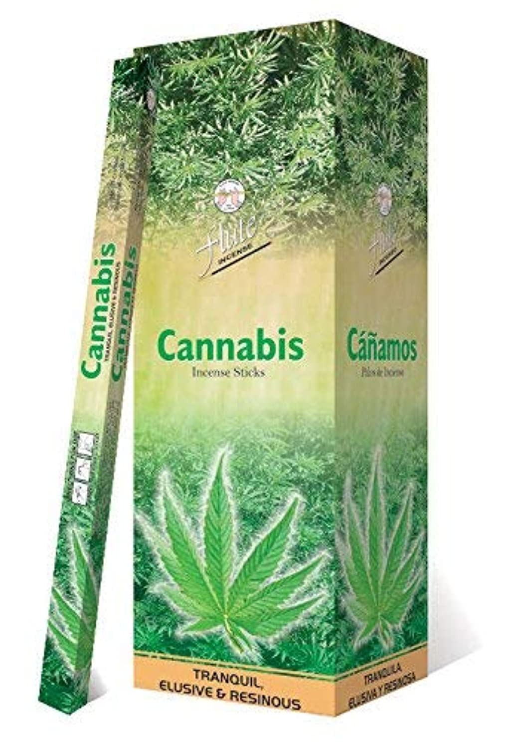 頼む懐疑的棚Incense SticksフルートCannabis Agarbatti 200 Sticks Squareパケット