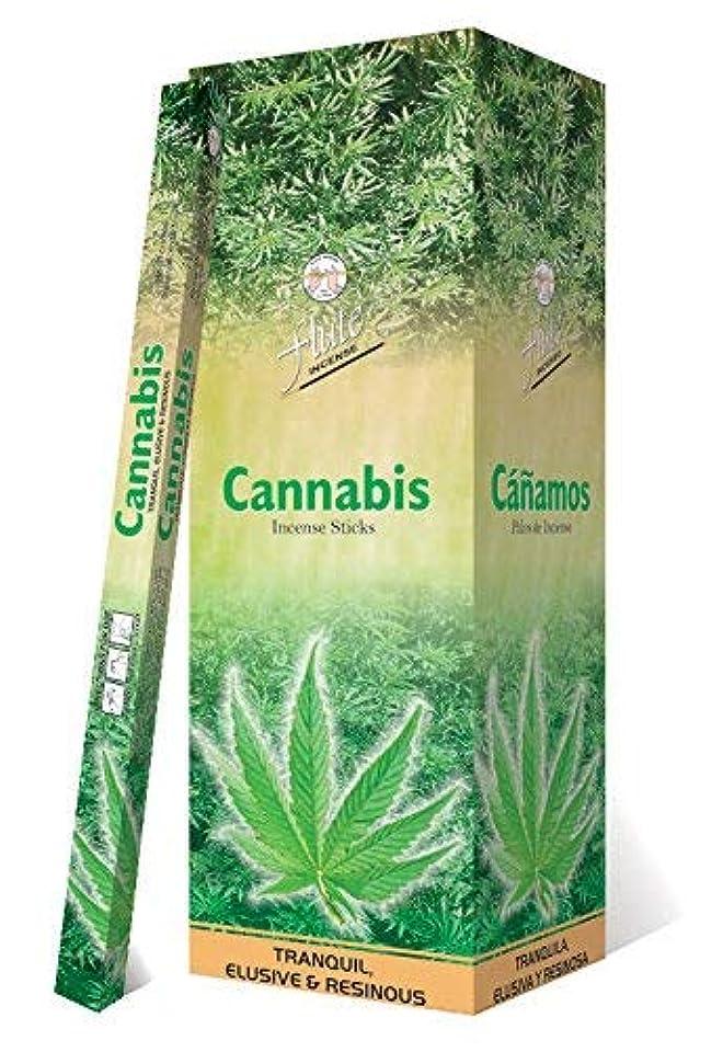 日報告書触手Incense SticksフルートCannabis Agarbatti 200 Sticks Squareパケット