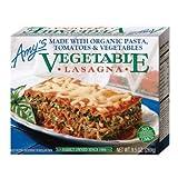 【冷凍便】Amy's Kitchen ベジタブルラザニア|ベジタリアン vegetarian お肉・添加物不使用のラザニア