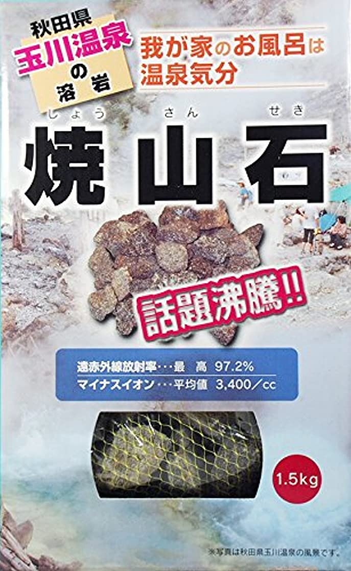 強います独特の大惨事【秋田玉川温泉湧出の核】焼山石1.5kg【お風呂でポカポカに】