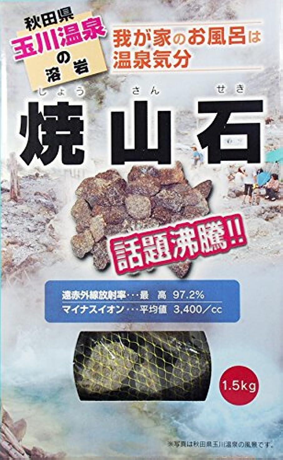 影響する俳優評判【秋田玉川温泉湧出の核】焼山石1.5kg【お風呂でポカポカに】