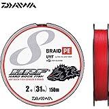 ダイワ(Daiwa) PEライン UVF HRF センサー8ブレイド+Si 150m 2号 31lb バトルレッド