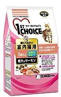 (まとめ買い)ファーストチョイス 室内猫用 鴨肉&サーモン 530g キャットフード 【×6】