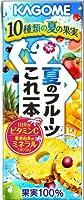カゴメ 夏のフルーツこれ一本 200ml 紙パック 72本 (24本入×3 まとめ買い)