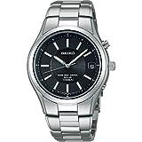 セイコー チタンソーラー電波 メンズ腕時計 ブラック SBTM193