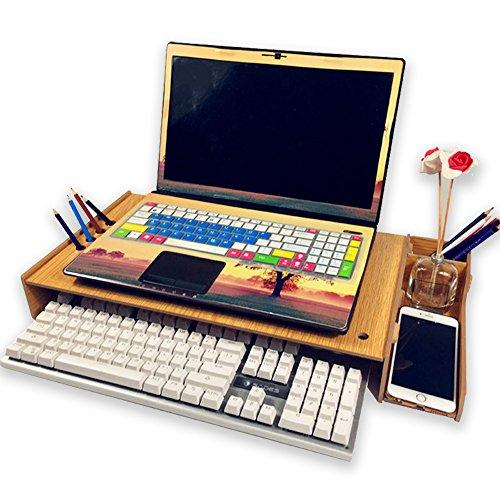 [해외]INANA 탁상 대 컴퓨터 노트북 디스플레이를 고조 랙 모니터 랙 책상 수납 높이 7CM을 추가 할 수 새우등을 방지 발색이 매우 깨끗/INANA desk top computer laptop computer raise the display rack monitor rack desk storage height can add 7CM c...