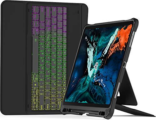 Inateck iPad Pro 12.9インチキーボードケース 2018、数百種類のバックライトがDIYできる、第3世代のみ対応可能、KB02006