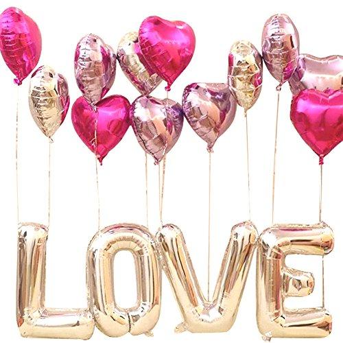 SWEET PARTY【巨大! LOVE 愛してる バルーン 】 ビッグサイズ 風船 プロポーズ 告白に!結婚記念日 結婚式 二次会 パーティー サプライズ (ピンク)