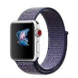 ナイキ ベルクロ amberwin Apple Watchバンド38mm 42mmスポーツループ、軽量通気性ナイロン交換バンドApple Watch Nike +、シリーズ1、2シリーズ、シリーズ3、スポーツ、Edition 42