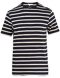 (サンスペル) Sunspel メンズ トップス Tシャツ Striped cotton-jersey T-shirt [並行輸入品]