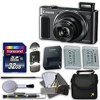 Canon PowerShot sx620HSデジタルカメラ(ブラック)と32GB高速メモリカード& Extraバッテリー+アクセサリーバンドル(12アイテム)