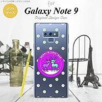 Galaxy Note 9 SC-01L SCV40(ギャラクシー ノート 9) SC-01L SCV40 スマホケース カバー ソフトケース トナカイワッペン 紫 nk-note9-tp623