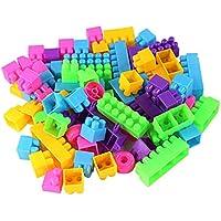 Lovoski 約250枚 プラスチック製 ビルディングブロック 積み木 パズル玩具 児童 知育玩具 多色