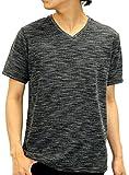 OVAL DICE(オーバルダイス) Tシャツ 半袖 無地 Vネック メンズ ブラック L