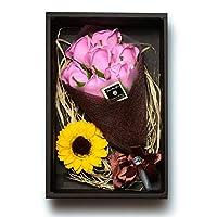 Samkeen 枯れない花 バラ ソープ フラワー 大切な人 へ 感謝 の 気持ち を 伝える 花束 「誕生日 母の日 記念日 先生の日 バレンタインデー 昇進 転居など最適としてのプレゼント 」 (7本バラ, ピンク)