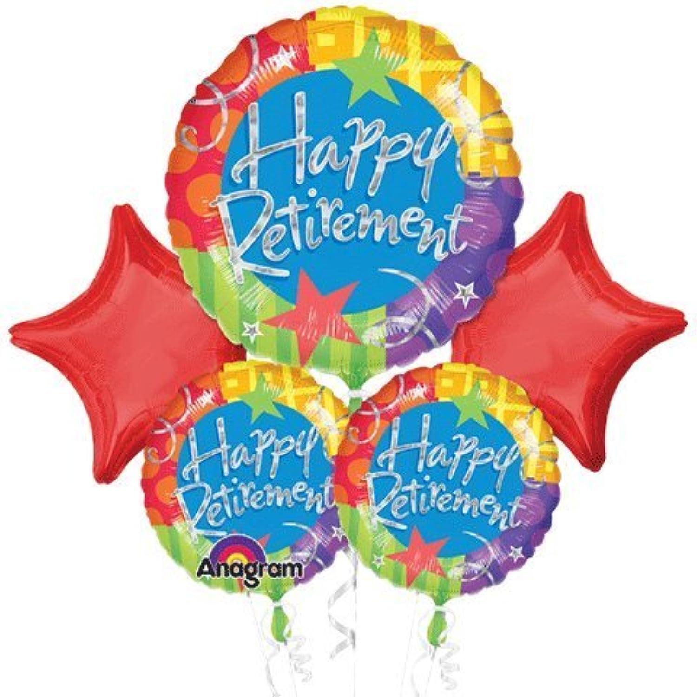 Happy Retirement星のバルーンの花束