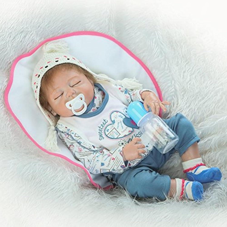 Dollshow Washable Reborn Sleeping BoyフルボディビニールLifelikeベビー人形磁気口23インチ57 cm