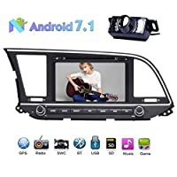 2Din Car In Dash Radio DVD Player for HYUNDAI ELANTRA 2016 Android 7.1 OS 1024*600 Touch Screen support WIFI 3G 4G BLUETOOTH OBD2 Mirror Link Steering Wheel Control with Rear View Camera