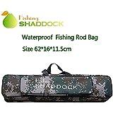 フィッシング ロッド 収納バッグ 防水 軽量 釣り道具バッグ 釣り竿入れ 手提げ 肩掛け ハンティング ポータブル ロッド リール オックスフォード - シャドック釣り 釣り具 60cm