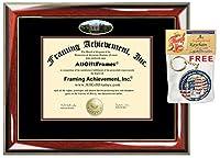 Ashland大学卒業証書フレーム学校キャンパスフォトダブルMatted度Framing卒業ギフトB。BマスターMBA J。D JD Doctorate PhD証明書ホルダーケース ゴールド