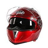 バイク ヘルメット フルフェース オフロード ジェット JK105 Bike Helmet レッドXXL
