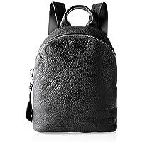 Trifine Unisex Pebbled Leather Backpack Handbag, Black, One Size
