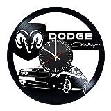 ダッジ Dodge 手作り ビニール レコード 壁掛け 時計 ヴィンテージ - ユニークなベッドルームの壁の飾りを得ます - お父さん、ボーイフレンドのギフトのアイデア - ユニークなカーのアート - フィードバックを残してカスタムの壁掛け時計を獲得します
