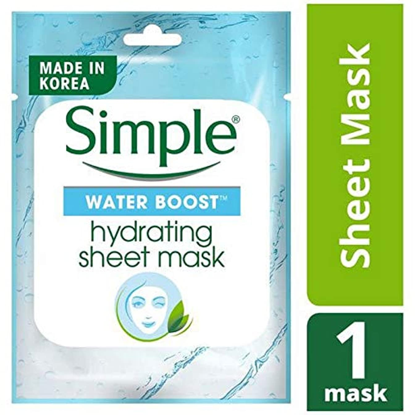 師匠バクテリア区別[Simple] シンプルな水ブーストシートマスク - Simple Water Boost Sheet Mask [並行輸入品]