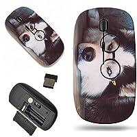 Luxladyワイヤレスマウス旅行2.4GワイヤレスマウスUSBレシーバー、1000dpi for PCノートブック、PC、ノートパソコン、MacデザインイメージID : 34608449Siberian Husky