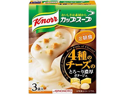 クノール カップスープ 4種のチーズのとろ〜り濃厚ポタージュ(3袋入)