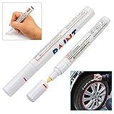 ETGtek(TM) 2本ホワイトパーマネントタイヤマーカーペン ペイントペン