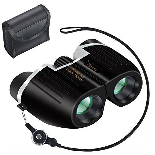 Hanver 双眼鏡 10×22 ストラップ付 ブラック
