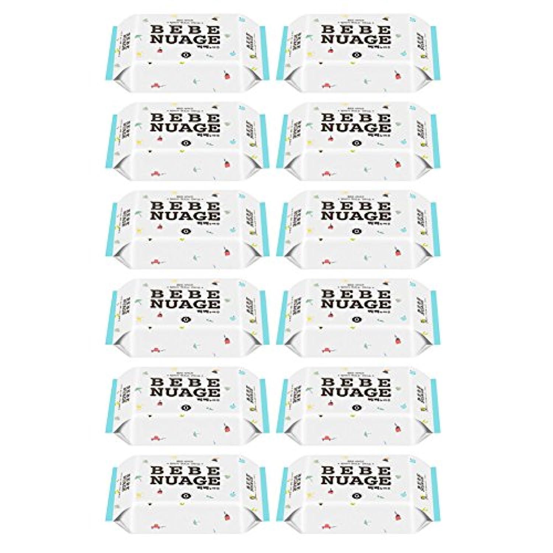[BEBE NUAGE] 手作りウェットティッシュ セット / ベビーウェットティッシュ、赤ちゃんのクールティッシュ、件ティッシュ [並行輸入品] (18パックセット(288枚))