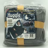 Huggle Hoodie,Ultra Plush Blanket Hoodie Winter Soft Warm Reversible Hooded Robe Pullover One Size Fit All for Adults & Children,Black
