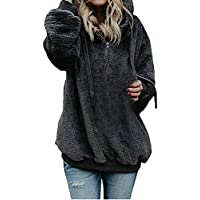 CCSDR Blouses for Women Clearance Sale 2018 New Casual Women's Quilted Lightweight Jackets Women Hooded Sweatshirt Coat Winter Warm Wool Zipper Pockets Cotton Coat Outwear