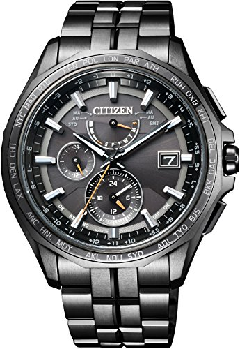 [シチズン] 腕時計 アテッサ エコ・ドライブ 電波時計 ダブルダイレクトフライト ディスク式 AT9097-54E メンズ