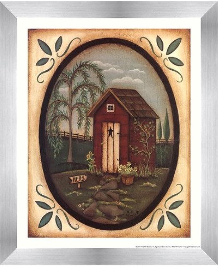 権威続けるロック彼女Outhouse by Kim Lewis – 9 x 11インチ – アートプリントポスター 8 x 10 Inch LE_211585-F9935-9x11