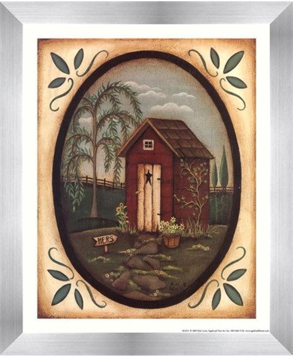 大胆不敵反対運賃彼女Outhouse by Kim Lewis – 9 x 11インチ – アートプリントポスター 8 x 10 Inch LE_211585-F9935-9x11