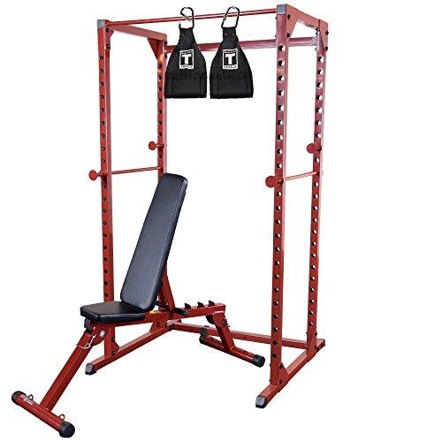 Best Fitness パワーラック パッケージ 赤いフレーム 黒い内張り