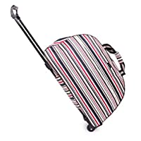 [エスビージェー] 旅行バッグ キャリーバッグ トロリーバッグ 軽量 女性 ボストンバッグ 旅行 ビジネス 【 ファスナーロック付 】 (ストライプ Bタイプ)