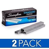 Swingline Staples、標準、1/ 4インチ長、ストリップ、5, 000/ボックスあたり210、2パック( s7035107p )