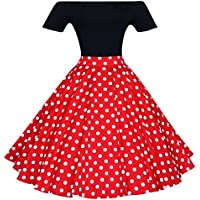 Maggie Tang Women's 1950S Vintage Retro Polka Dot Swing Rockabilly Casual Skirts